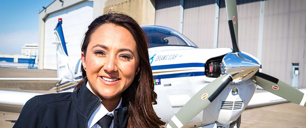 PHOTO: Shaesta Waiz, the pilot who completed the landmark 2017 Dreams Soar round-the-world flight to raise awareness for greater access for girls and youth globally to Science, Technology, Engineering and Math (STEM) education.
