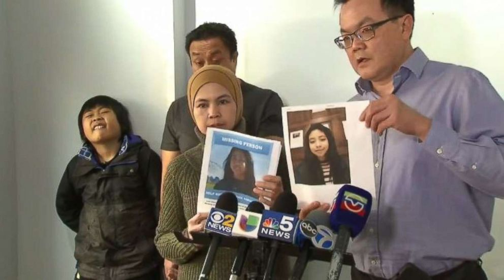 PHOTO: The mother and father of missing college student Shalyha Ahmad pleaded for information about her daughter at a press conference in Chicago on Wednesday, Dec. 26, 2018.