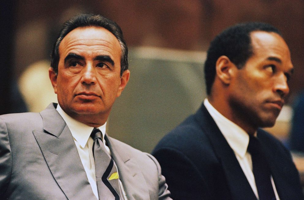 PHOTO: Defense attorney Robert Shapiro sits next to O.J. Simpson during a preliminary hearing following the murders of Simpsons ex-wife Nicole Brown Simpson and her friend Ronald Goldman, July 7, 1994, in Los Angeles.