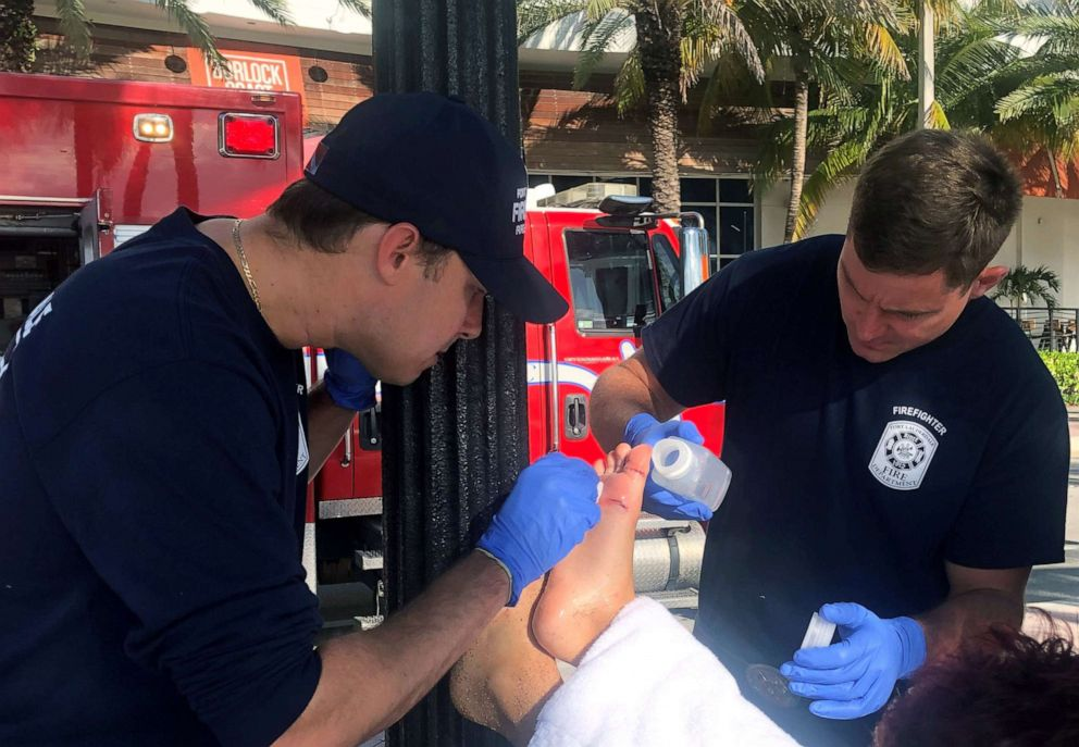 PHOTO: An 11-year-old boy needed 17 stitches after he was bitten on the foot by a shark in Florida, Aug. 21, 2019.