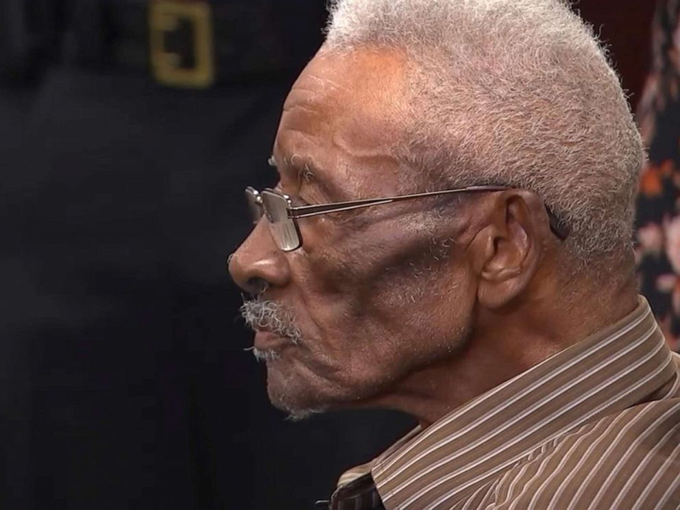 PHOTO: On June 13, 2019, Wake County Sheriff Gerald Baker apologizes to Lynn Council, 86, who says two deputies hanged him from a tree in 1952.