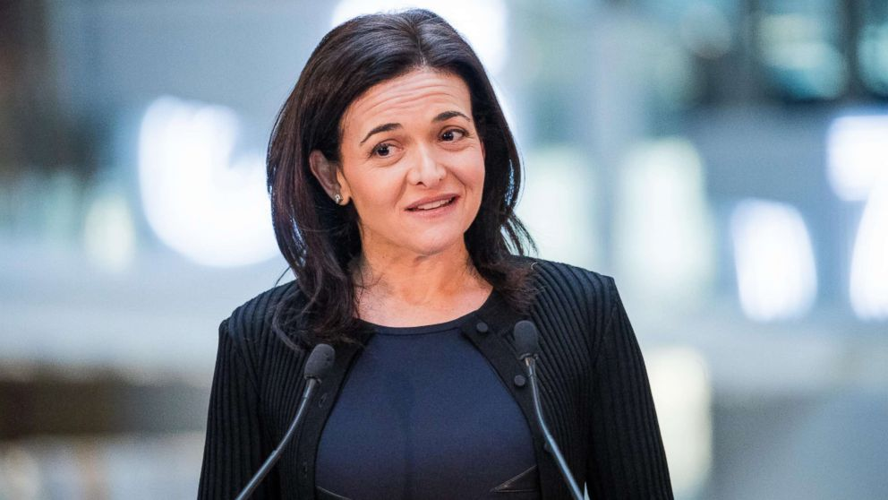 Sheryl Sandberg, chief operating officer of Facebook Inc., speaks during a news conference at Station F, a mega-campus for startups located inside a former freight railway depot, in Paris, Jan. 17, 2017.