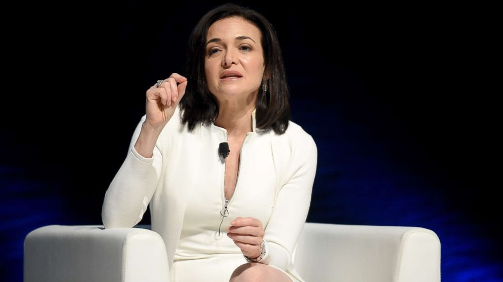 Chief Operating Officer of Facebook, Sheryl Sandberg, attends the Cannes Lions Festival 2017, June 22, 2017 in Cannes, France.