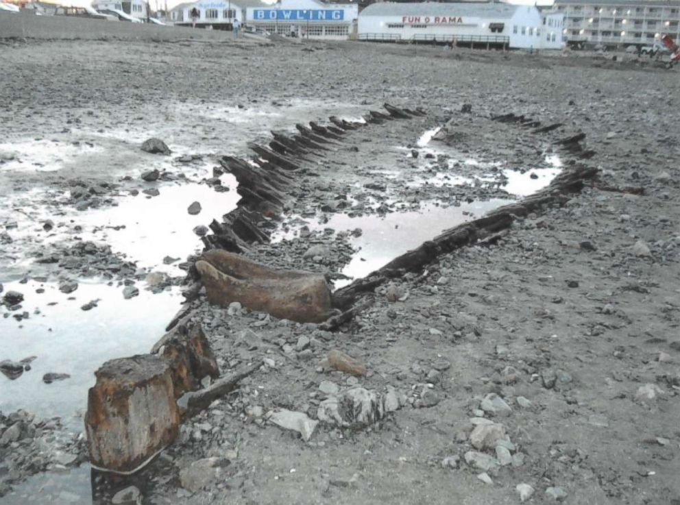 PHOTO: The Short Sands Shipwreck was last unearthed in 2013 after a large storm, according to Leith Smith, historical archaeologist for the Maine Historic Preservation Commission.