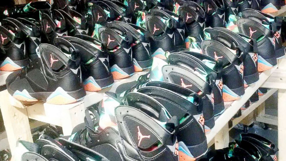 9e8c8b5efde4 5 people charged with trafficking  73 million in counterfeit Nike Air  Jordans  Police