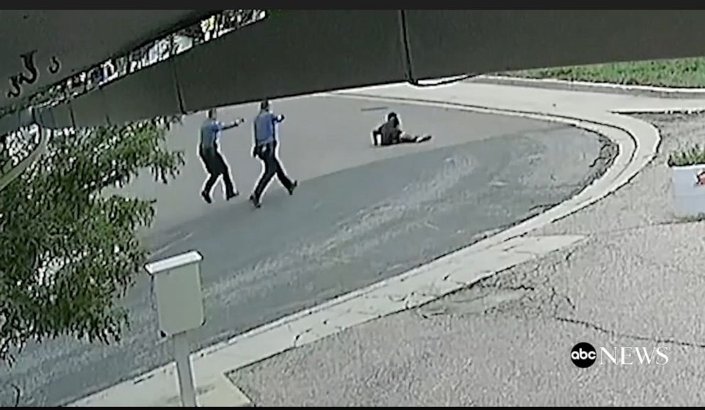 PHOTO: Security footage shows the moment DeVon Bailey was shot by police officers.