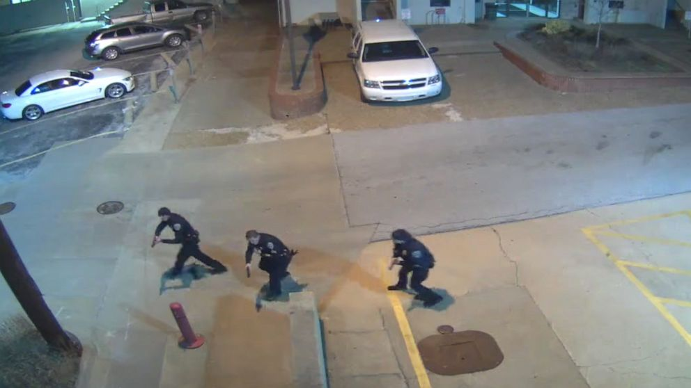 Surveillance videos showing 'heinous' killing of officer Stephen Carr released by Arkansas police