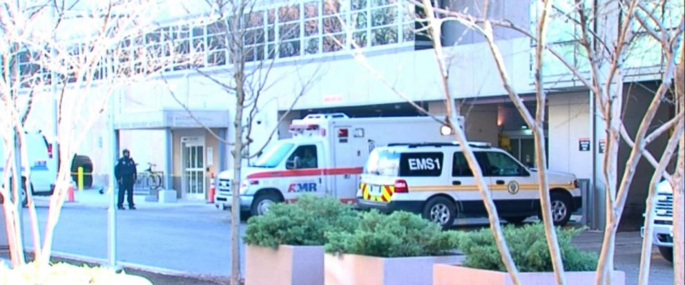 PHOTO: A 24-year-old employee of the University of Maryland Medical Center was shot Monday morning outside of the hospital.