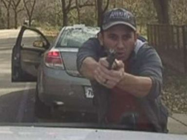 Dramatic exchange of gunfire between sheriff's deputy and suspect caught on video