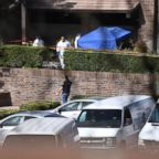 Investigators work at the scene of a mass shooting at the Borderline Bar & Grill in Thousand Oaks, Calif., November 8, 2018.