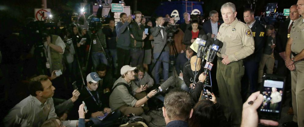 PHOTO: Ventura County Geoff Dean addresses the media about the shooting at the Borderline Bar and Grill in Thousand Oaks, Calif., Nov. 8, 2018.