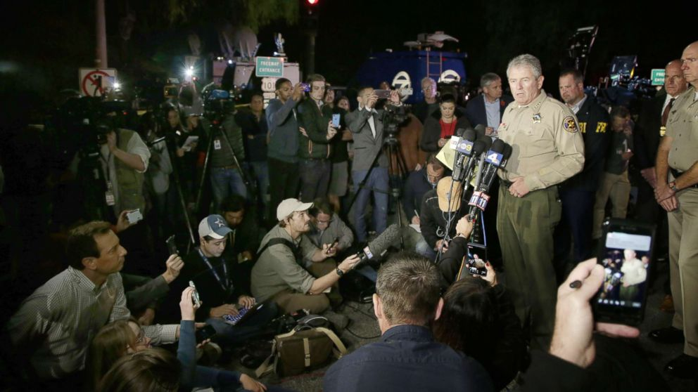 Ventura County Geoff Dean addresses the media about the shooting at the Borderline Bar and Grill in Thousand Oaks, Calif., Nov. 8,  2018.