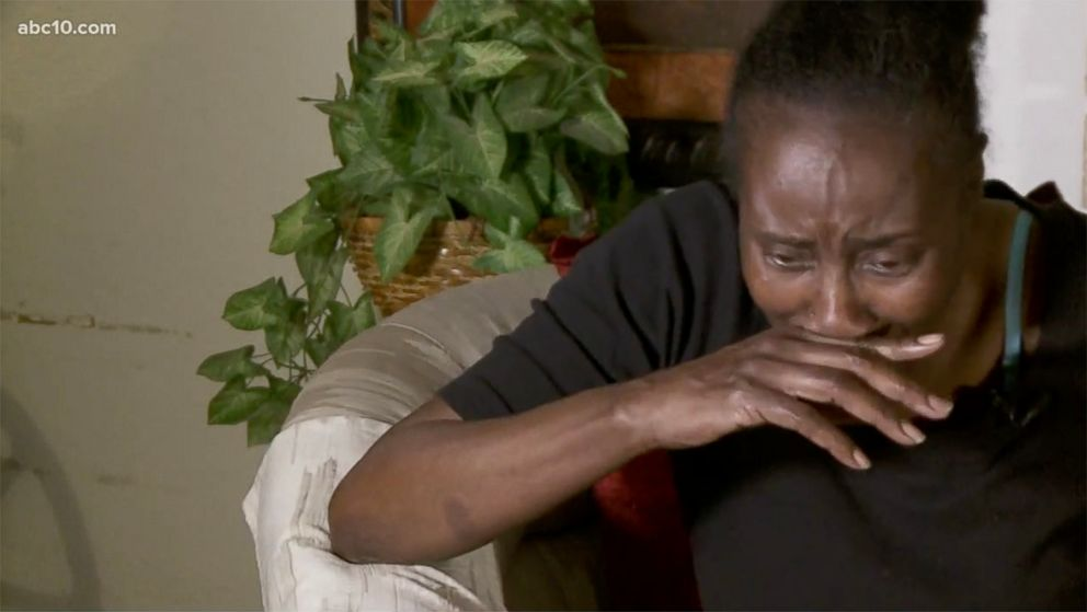 PHOTO: Sequita Thompson, the grandmother to Stephen Clark, during an interview in which she describes how her grandson was shot 20 times by Sacramento Police officers, in the backyard of her home.