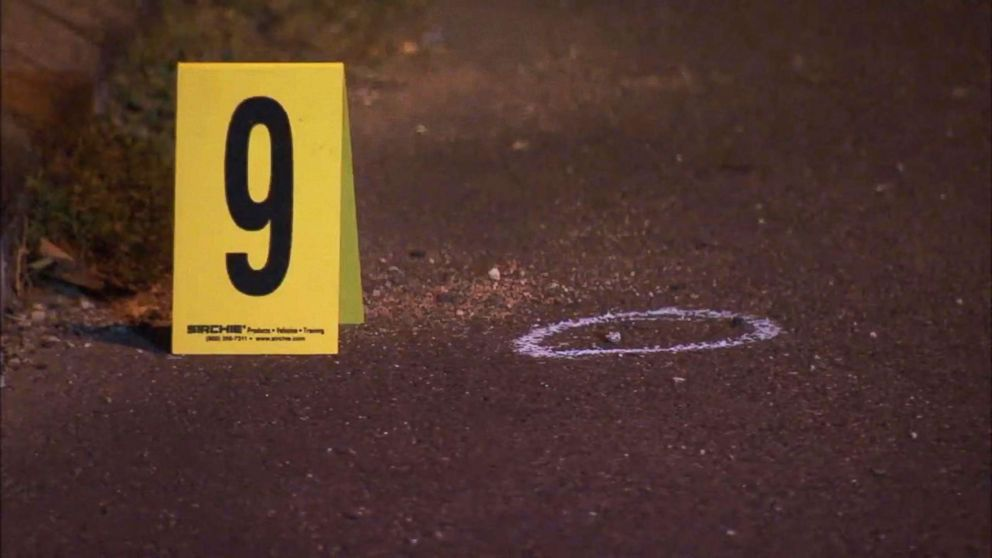 Authorities are looking for gunmen after a 14-year-old girl and her 5-year-old brother were shot while trick-or-treating in Philadelphia, Oct. 31, 2018