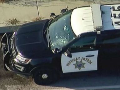 California Highway Patrol officer and suspect die in traffic stop gun battle