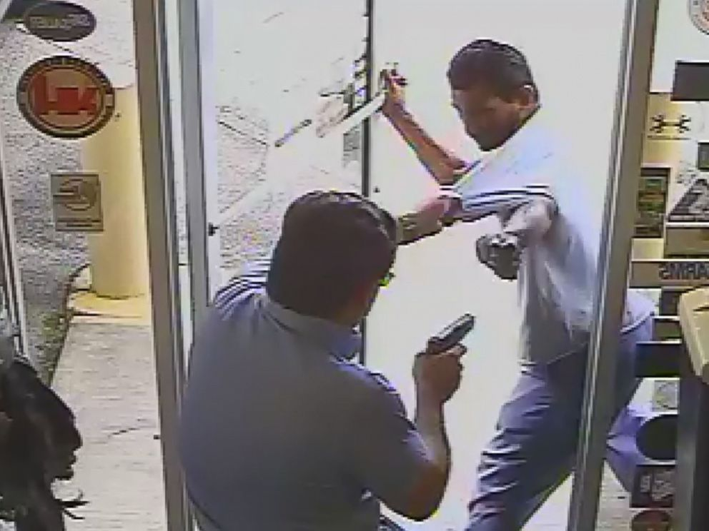 PHOTO: Surveillance video captured the shooting death of Cristobal Lopez at the Vets Army Navy Surplus store by the stores owner, Michael Dunn, after Lopez attempted to steal a hatchet, Oct. 3, 2018, in Lakeland, Fla.
