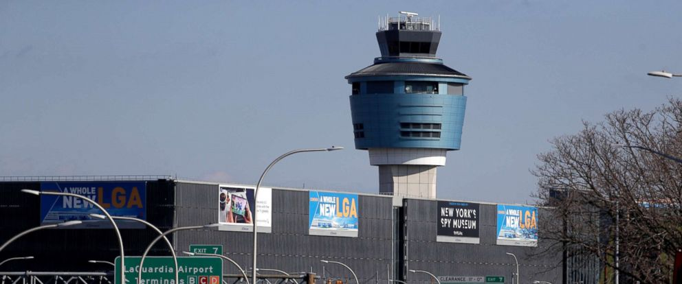 PHOTO: The air traffic control tower at LaGuardia Airport is seen, Jan. 25, 2019, in New York.