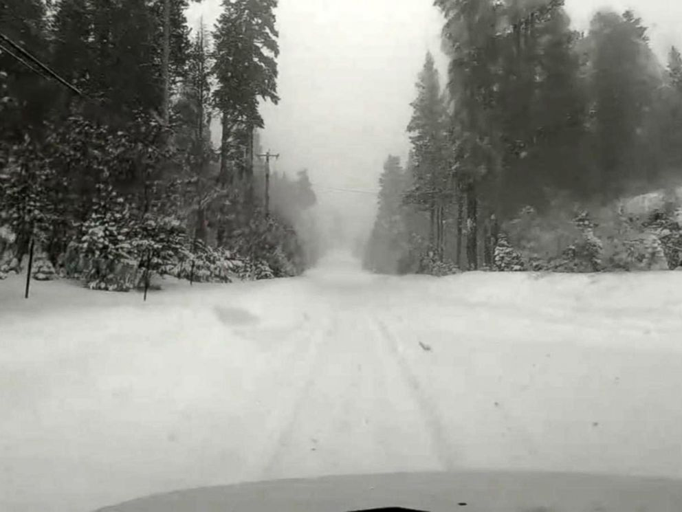 PHOTO: The Sierra Nevada Mountains has seen several feet of snow and winds gusting over 100 miles per hour.