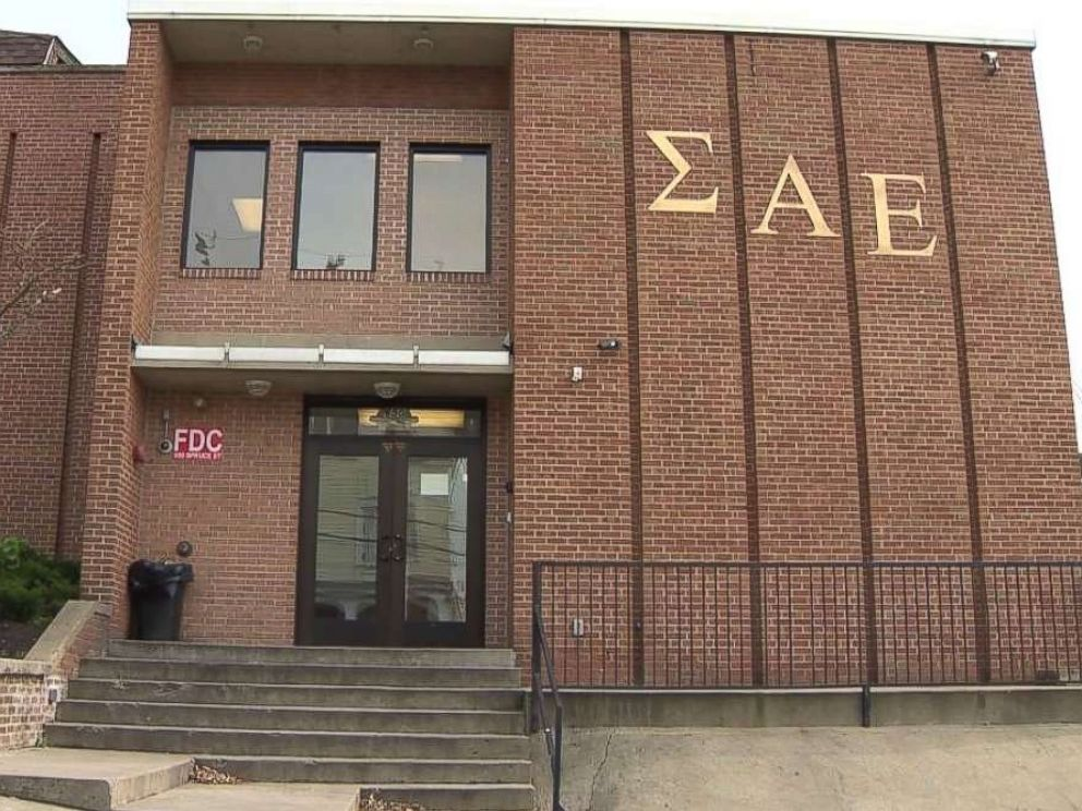 PHOTO: A student was critically injured in a fall at the Sigma Alpha Epsilon house on the campus of West Virginia University on Saturday, Nov. 10, 2018.