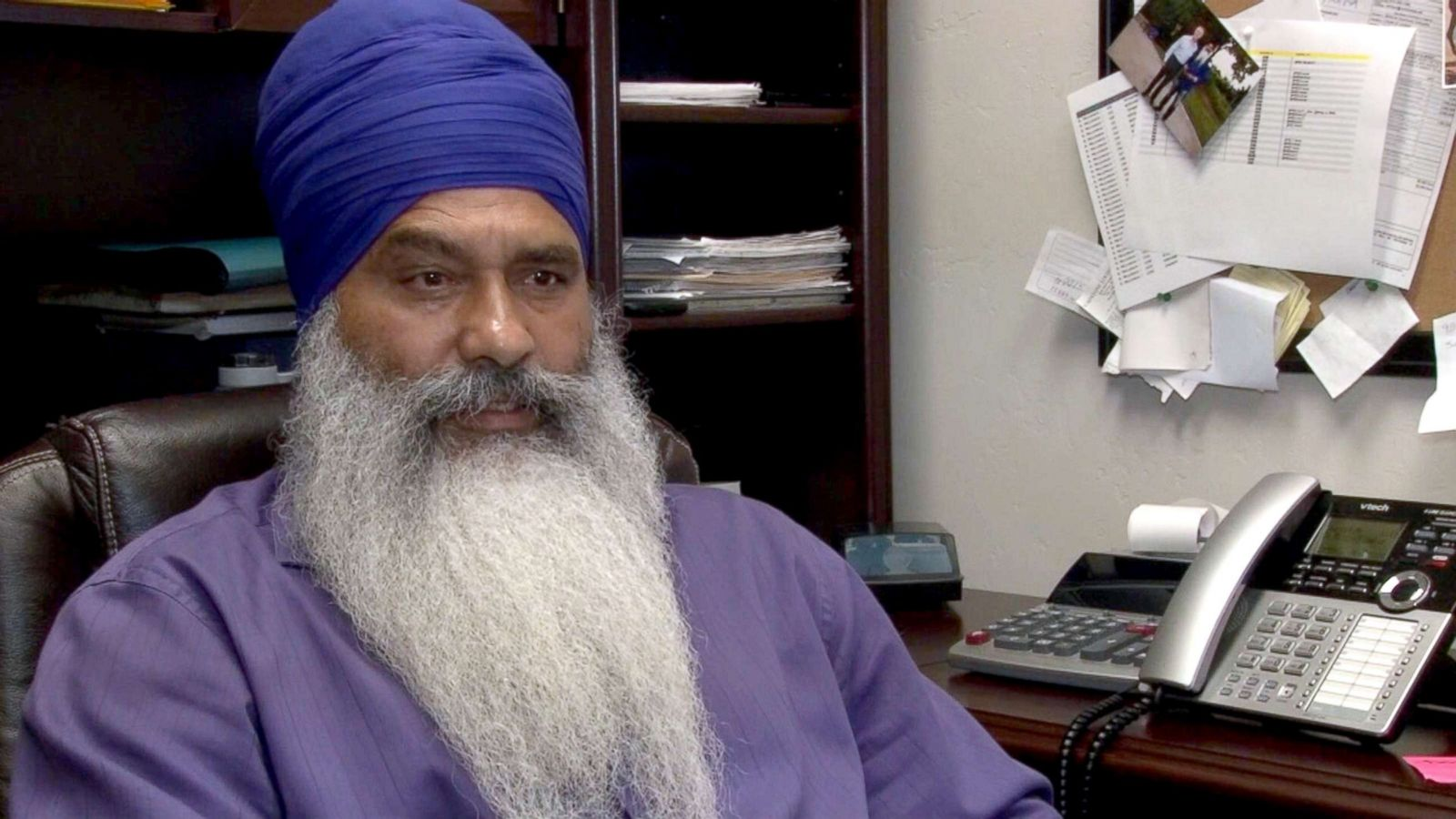 sikh man attacked while putting up campaign signs, told to 'go back