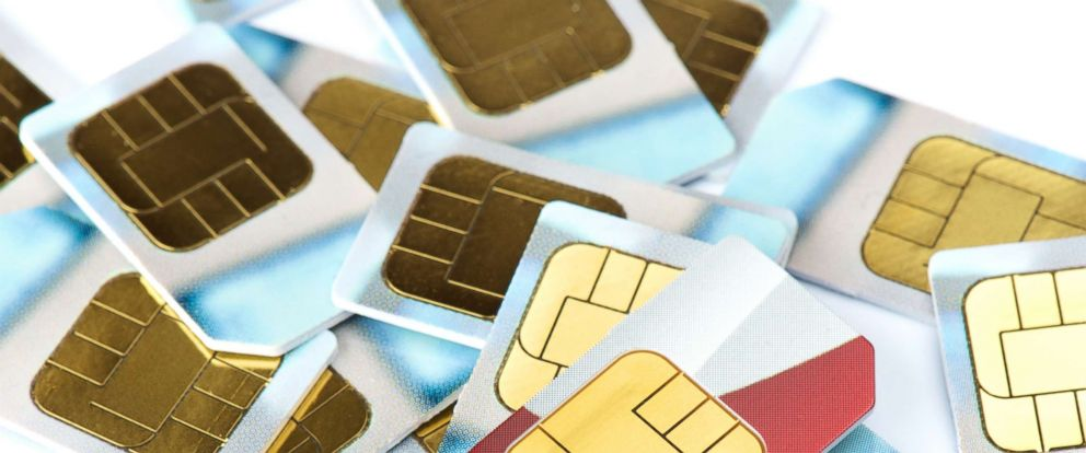 PHOTO: A stock photo of sim cards.