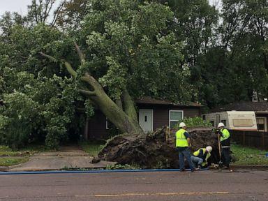 Overnight tornado leaves trail of destruction