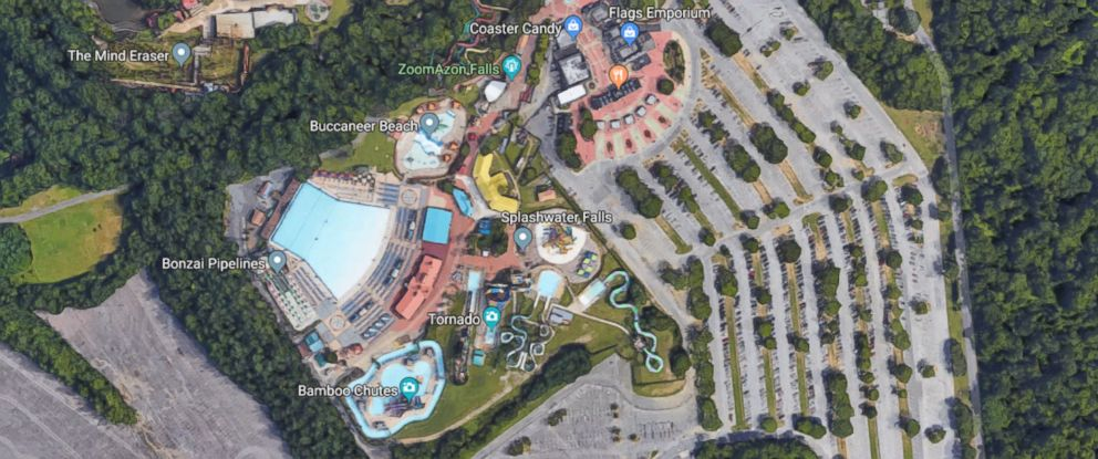 PHOTO: Six Flags America in Maryland is pictured in a Google Street View image dated 2018.