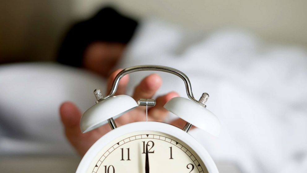 An alarm clock goes off in this stock photo.