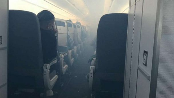 Hawaiian Airlines plane makes emergency landing due to smoke in the cabin; 7 hospitalized