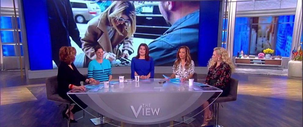 """The View"" discussed Lori Loughlins decision to happily greet fans and paparazzi photographers ahead of her court appearance in the college admissions scandal."