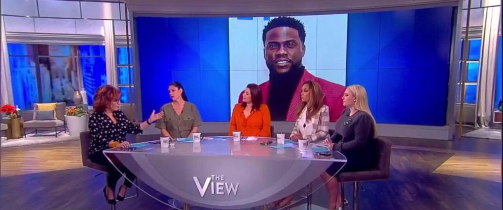 """PHOTO: """"The View"""" discussed Kevin Hart reconsidering hosting the Oscars after an interview with Ellen DeGeneres."""