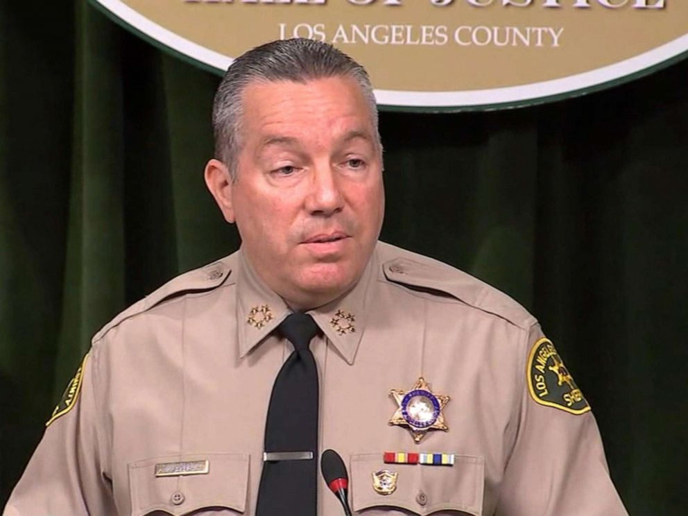 PHOTO: Los Angeles County Sheriff Alex Villanueva gives a press conference on August 28, 2019.