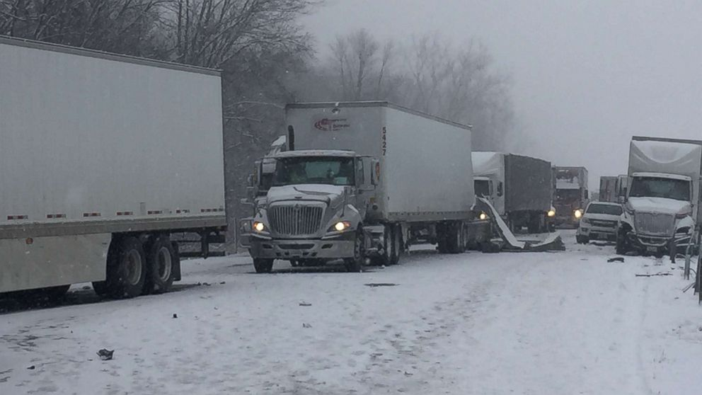 The Michigan State Police (MSP) is currently investigating a multi-vehicle crash on westbound I-94 near Hartford, Mich., at mile marker 45, Feb. 2, 2018.