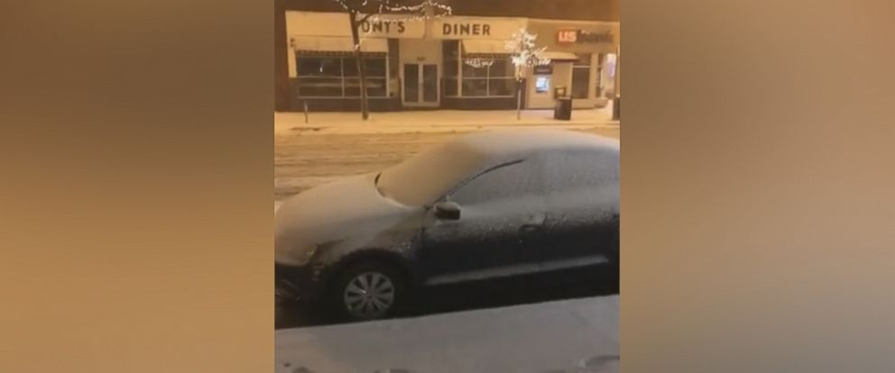 PHOTO: A video posted to Instagram, of a car covered in snow, Dec. 4, 2017, in Minneapolis.