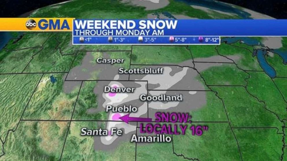 PHOTO: Over a foot of snow is possible in isolated locations in southern Colorado.