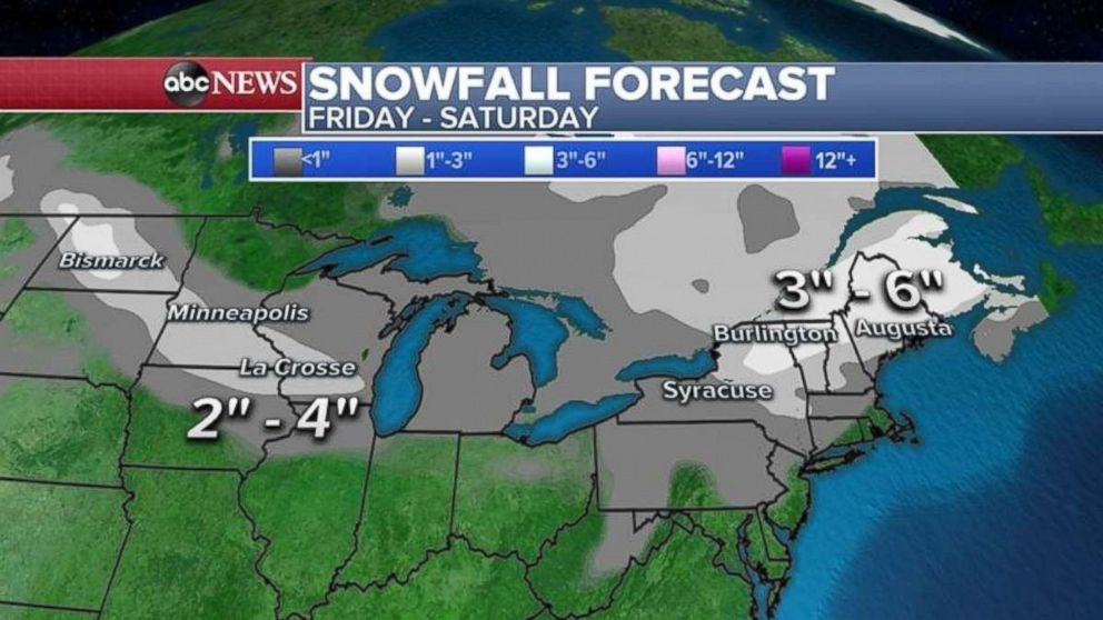 PHOTO: An additional 3 to 6 inches of snow are possible in northern New York and New England on Friday and Saturday.