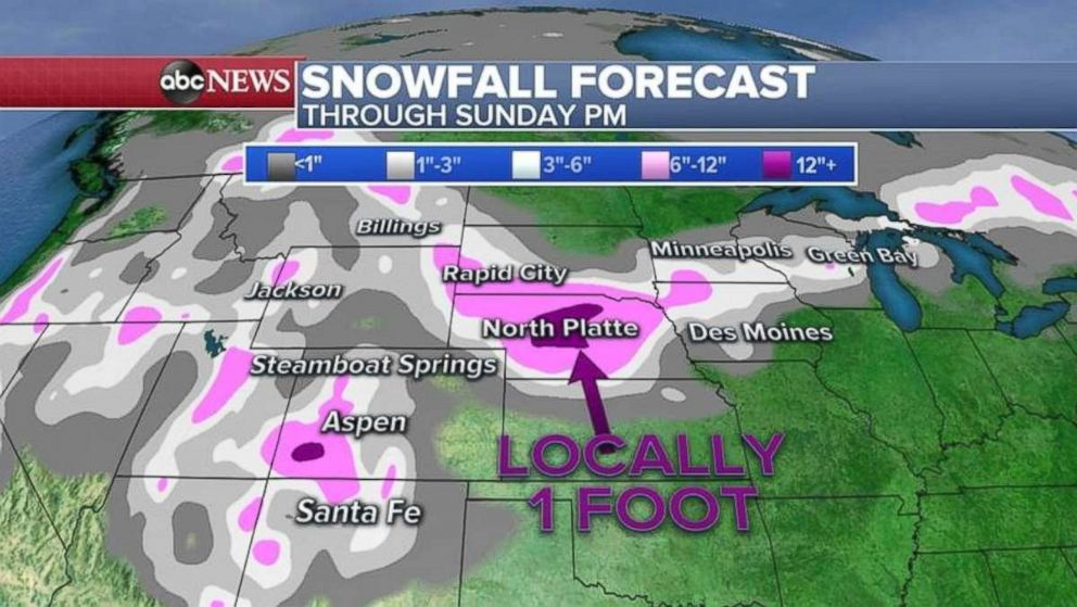 PHOTO: Heavy snow is expected in Nebraska through the weekend.
