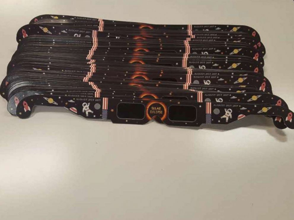 PHOTO: Christine Rowlan, a math teacher at Canyon Springs STEM Academy in Anthem, Arizona, purchased 1,000 solar eclipse glasses for the whole student body and faculty.