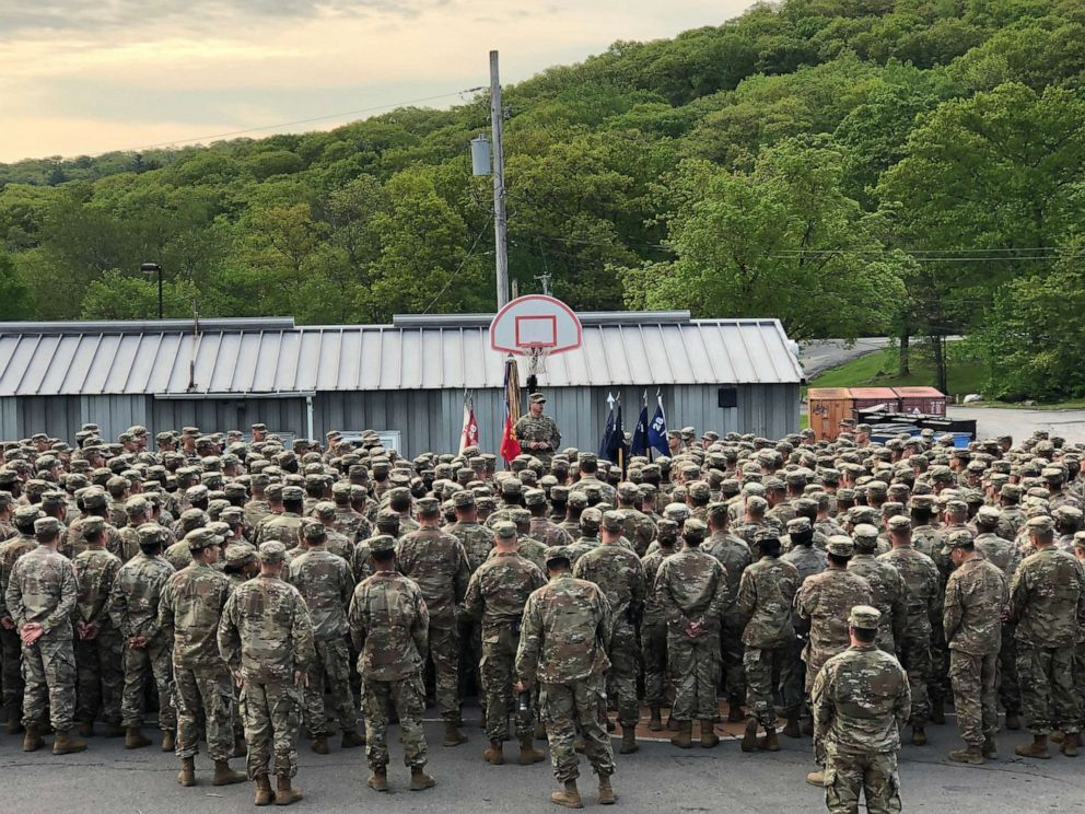 PHOTO: Task Force 1-28th Infantry, 3rd Infantry Division holds a formation at Camp Natural Bridge as they prepare to training cadets this summer during Cadet Summer Training.