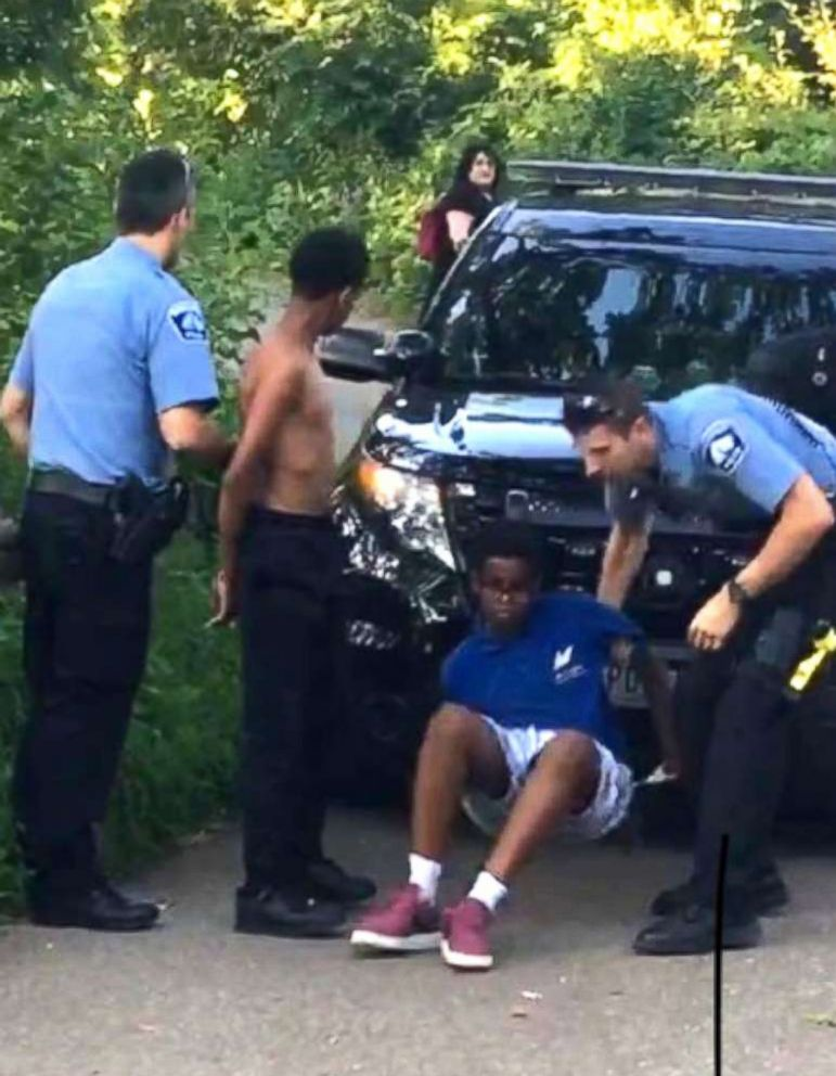 PHOTO: Somali-American teens handcuffed in Minnesota park after 911 caller falsely accuses them of having weapons.