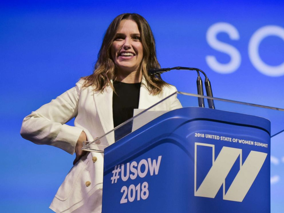 PHOTO: Sophia Bush speaks on stage at The United State of Women Summit 2018, May 5, 2018 in Los Angeles.