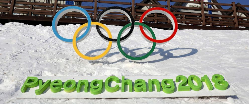 PHOTO: The Olympic rings are seen in Hoenggye town, near the venue for the Opening and Closing ceremony ahead of PyeongChang 2018 Winter Olympic Games on February 4, 2017 in Pyeongchang-gun, South Korea.