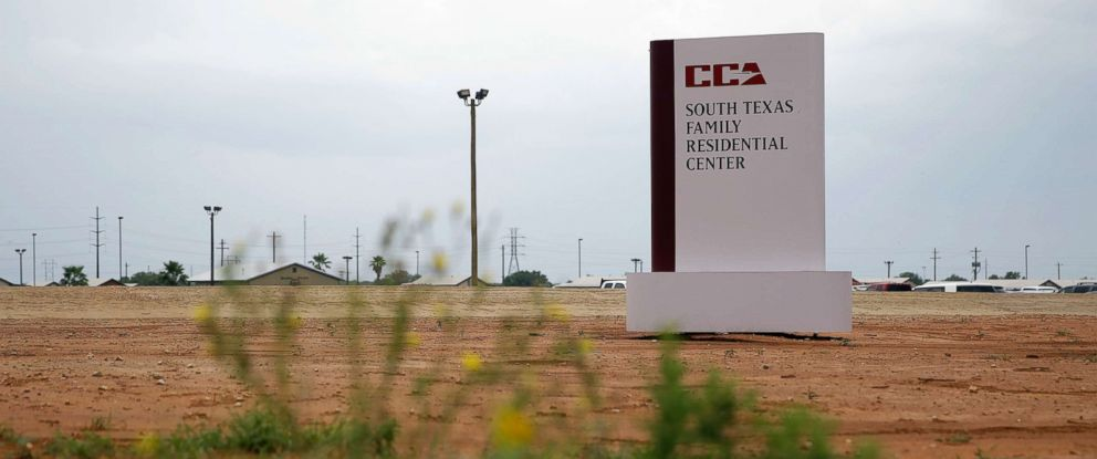 PHOTO: A sign at the entrance to the South Texas Family Residential Center in Dilley, Texas is pictured on June 30, 2015.