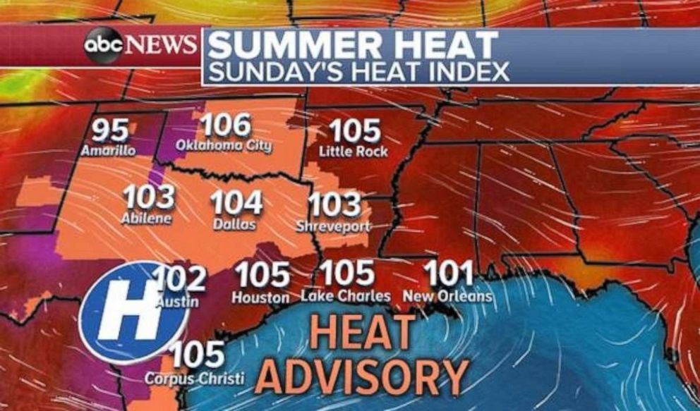 PHOTO: A heat advisory will remain in effect for much of the southeast today.