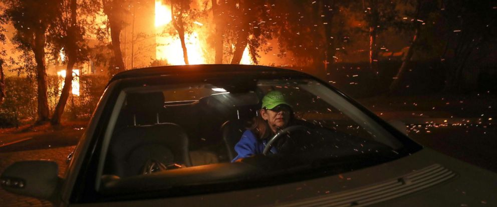 entire city of malibu evacuated as fires race through southern