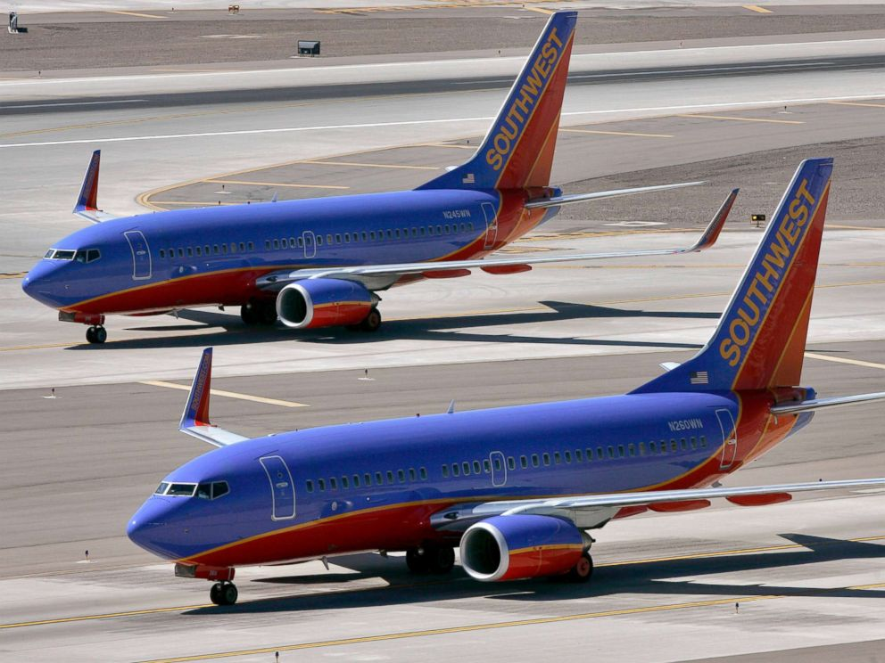 PHOTO: Southwest Airlines jets are pictured on a tarmac in this March 21, 2008 file photo. basketball coach says southwest worker made her prove relationship to biracial son Basketball coach says Southwest worker made her prove relationship to biracial son southwest airline ap er 180226 4x3 992