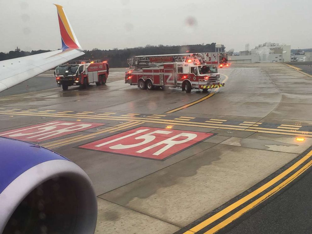 Southwest Flight Slides On Taxiway At BWI