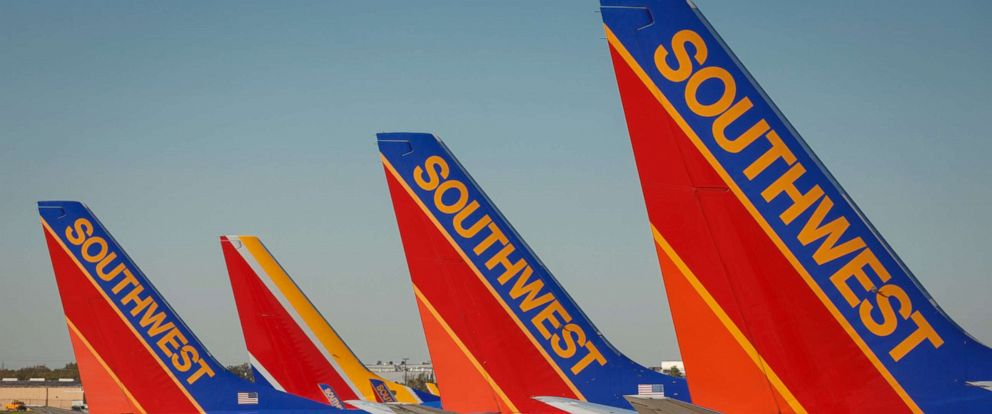 PHOTO: Southwest Airlines Boeing 737 planes prepare for takeoff at William P. Hobby international airport in Houston Texas, Nov. 18, 2015.