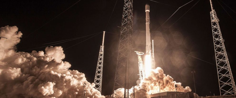 """PHOTO: The SpaceX Falcon 9 rocket is launched Jan. 7, 2018, at Cape Canaveral, Fla. for the """"Zuma"""" U.S. satellite mission."""