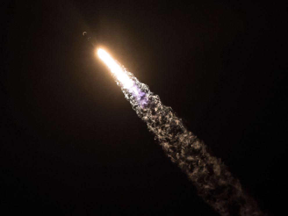 PHOTO: A SpaceX Falcon 9 rocket lifts off from Cape Canaveral, Jan. 7, 2018. The rocket is carrying a classified payload for the US Government.